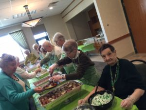 Women Serve at Senior Center